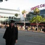 After Graduation outside of Staples Center