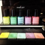 Pretty pastel's at Inglot's showroom.