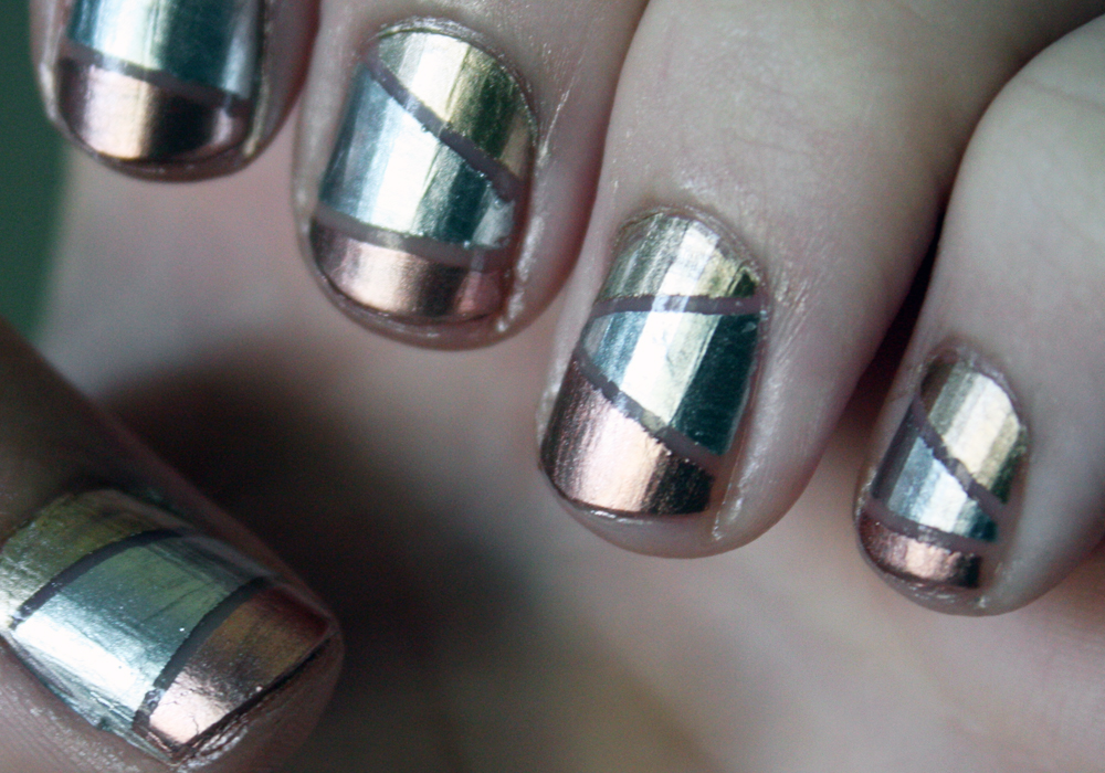 Olympic Medal Inspired Nails Featuring Essie Mirror Metallics