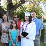 High School graduation 2010- This belongs on awkward family photos.