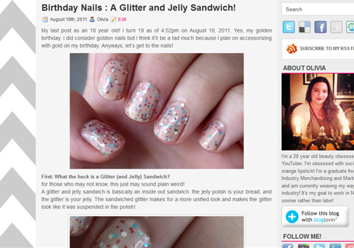 7 Birthday Nails Glitter Jelly Sandwich