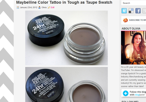 8 Maybelline Color Tattoo Tough as Taupe Swatch