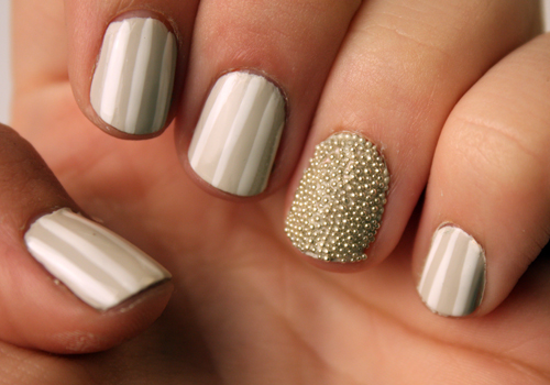 Stripes And Microbeads With Julep Annabelle