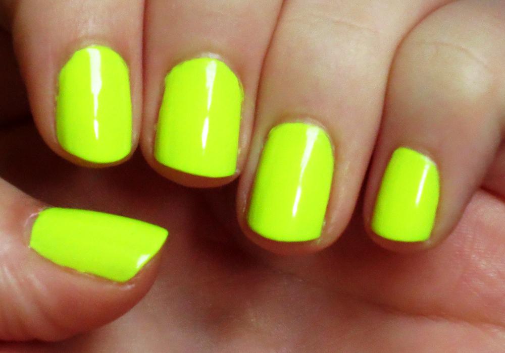 China Glaze Yellow Polka Dot Bikini Swatch (2)