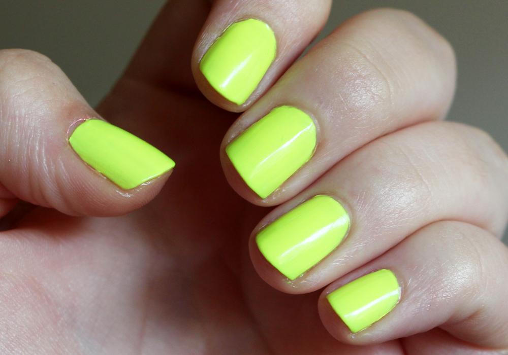 China Glaze Yellow Polka Dot Bikini Swatch (3)