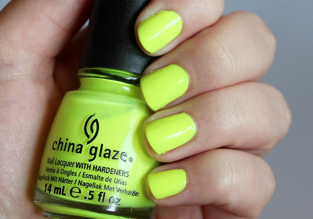 China Glaze Yellow Polka Dot Bikini Swatch