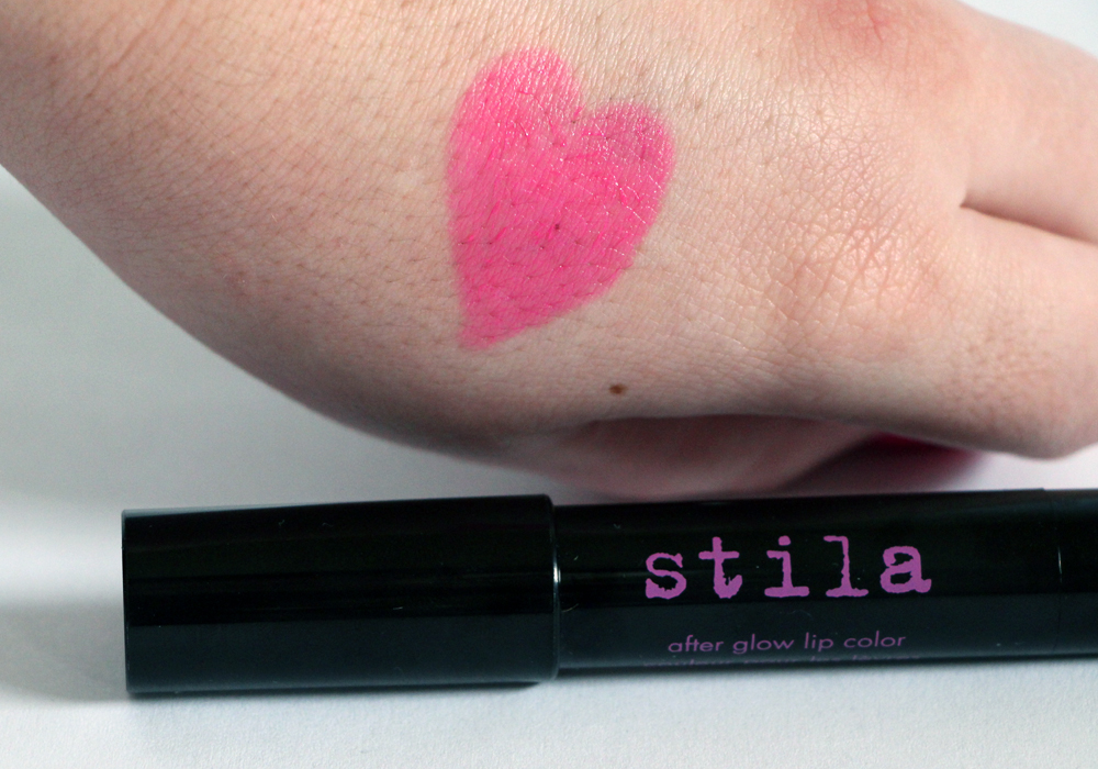 Stila After Glow Lip Color in Electric Pink Swatch (2)
