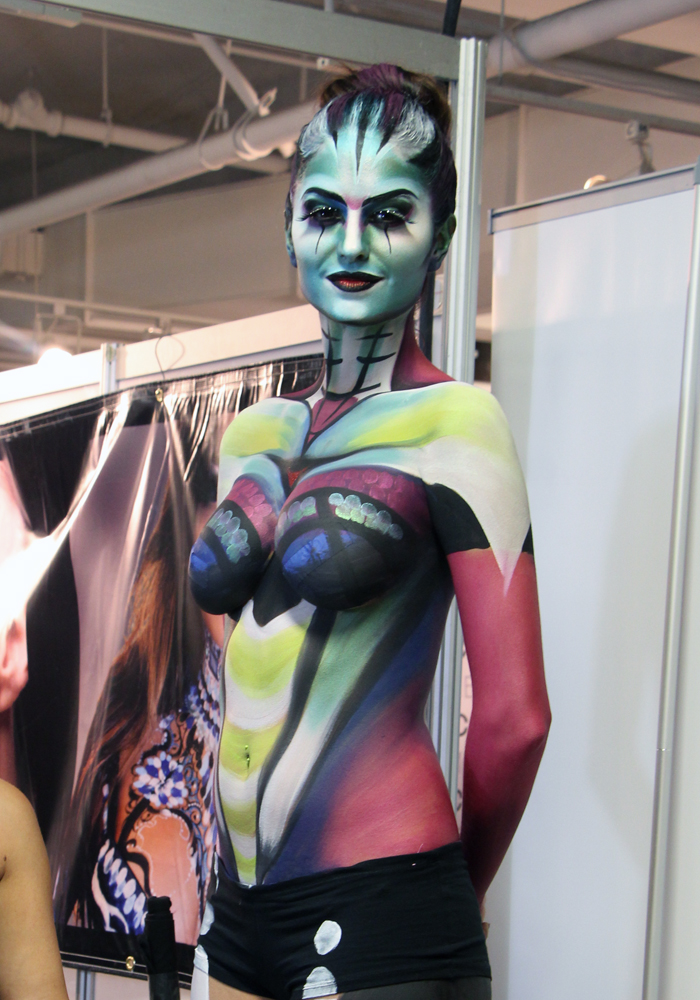 The Makeup Show LA 2013 Mehron Body Painting