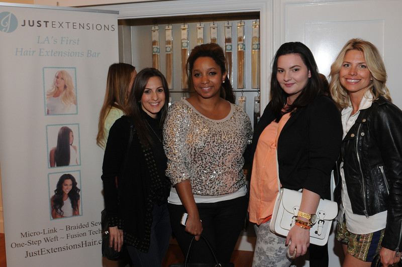 Just Extensions Sexy Hair Event Lisa Filipelli, Kristen Turner Glitter N Glue, Olivia Frescura, Leah Ashley Fab Life