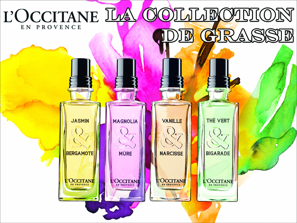 L'Occitane La Collection De Grasse Fragrances Jasmin & Bergamote, Magnolia & Mure, Vanille & Narcisse, The Vert & Bigarade