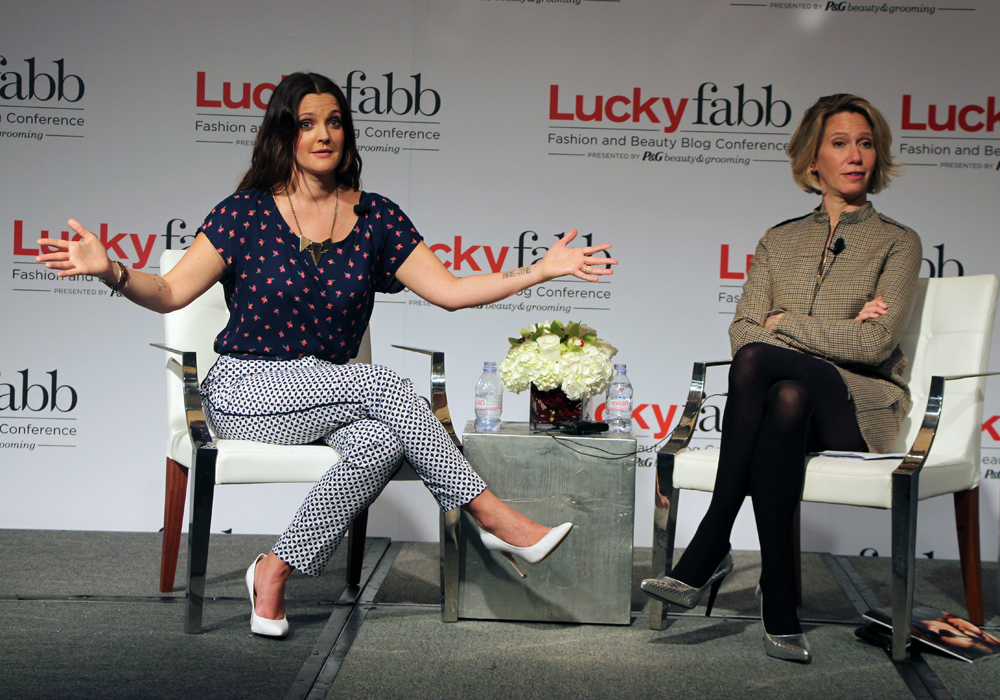 LuckyFABB Magazine Fashion Beauty Blogger Conference Conversation with Drew Barrymore Flower Beauty Recap