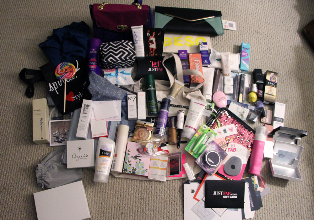 LuckyFABB Magazine Fashion Beauty Blogger Conference Gift Bag Contents
