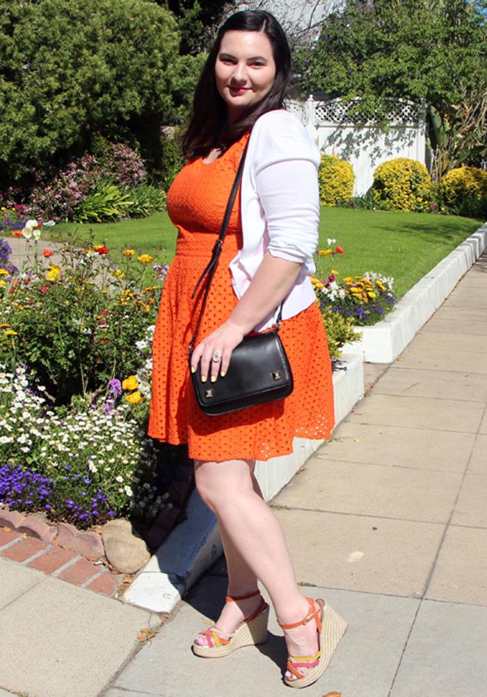 Orange Dress Outfit Olivia Frescura