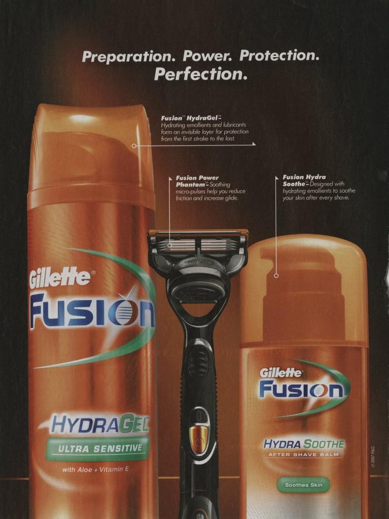 2007 Gillette Fusion print ad 300dpi723 | Olivia Frescura ...