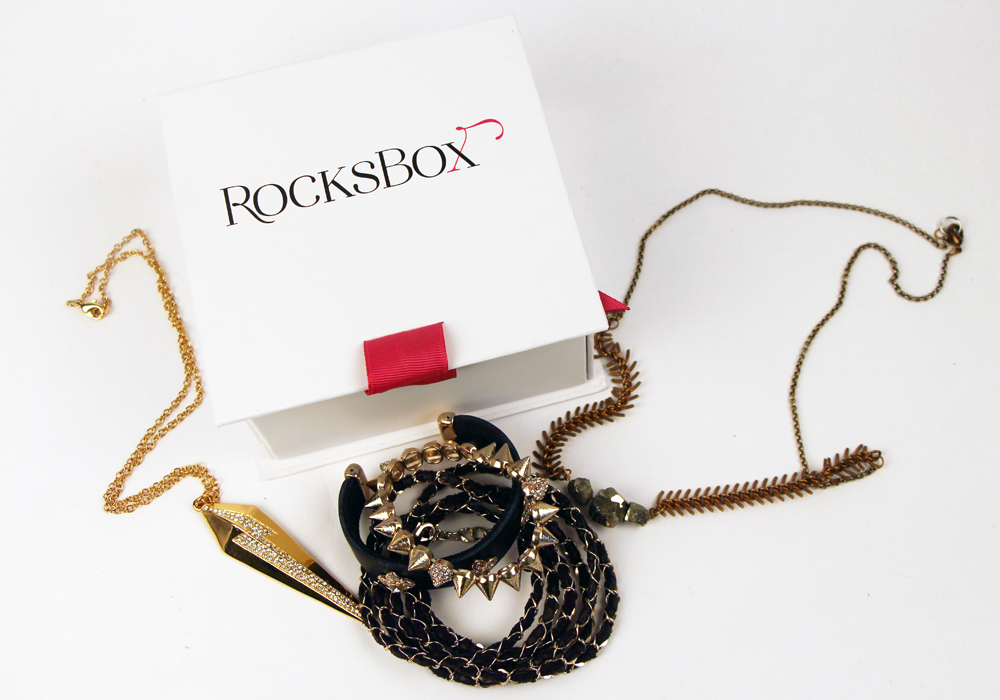 RocksBox Subscription Jewelry Rental Service Review (CC Skye Power Pendant Necklace, Urban Gem Leather and Gold Triad Set, Salty Fox Isolde Necklace)