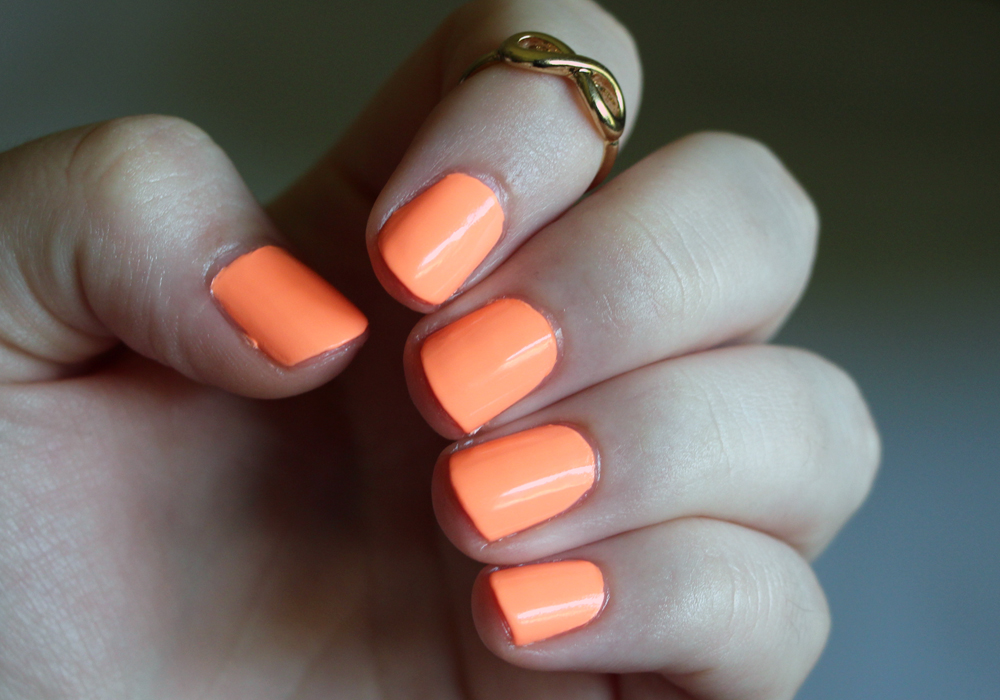 China Glaze Sun Of A Peach Nail Polish Swatch Review (2)
