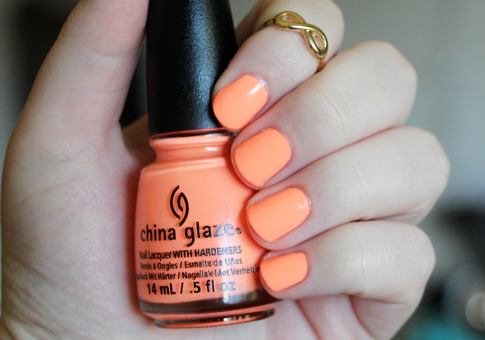 China Glaze Sun Of A Peach Nail Polish Swatch Review