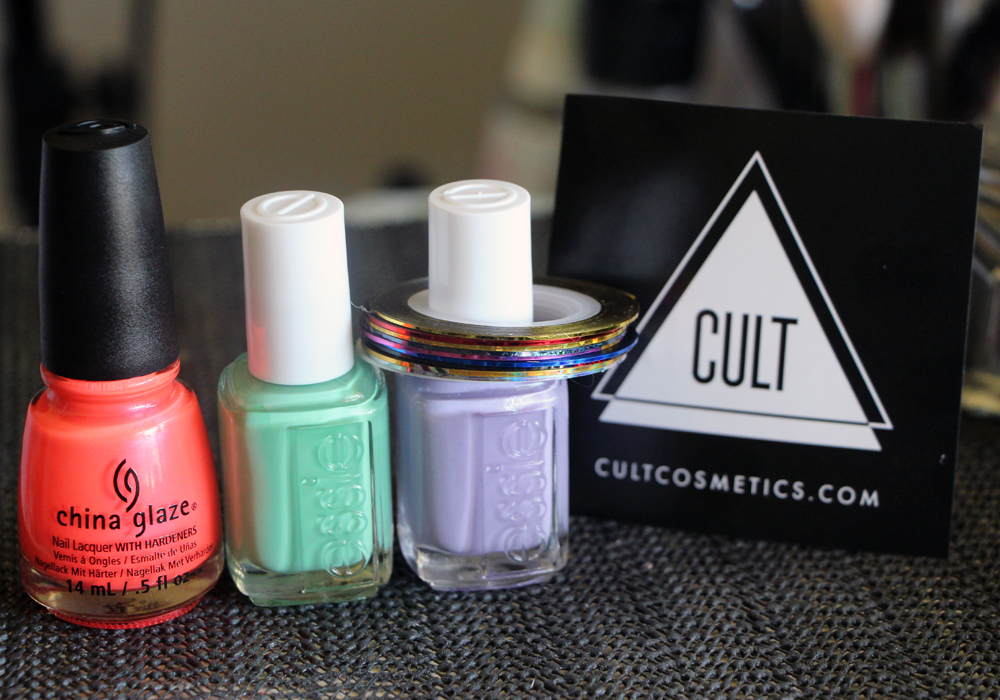 Blackbox by Cult Cosmetics August Nail Polish Box (China Glaze Surfin For Boys, Essie First Timer & Full Steam Ahead) MASH Nail Art Striping Tape (2)