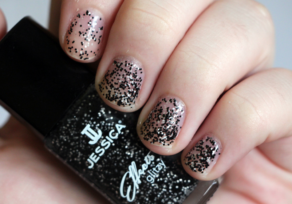 Jessica Cosmetics Glitzy Effects Collection Bling It Black Swatch Review
