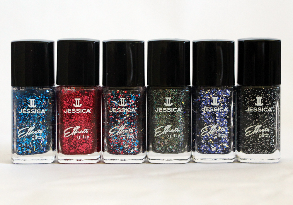 Jessica Cosmetics Glitzy Effects Collection (Star Spangles, Sparkles, Razzle Dazzle, Sizzle, Glam It Up, Bling It Black) Review