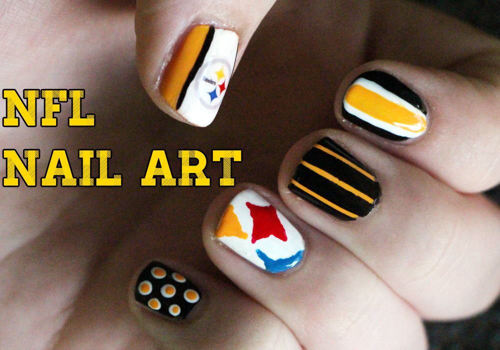Pittsburgh Steelers NFL Nail Art feat. COVERGIRL | Tutorial