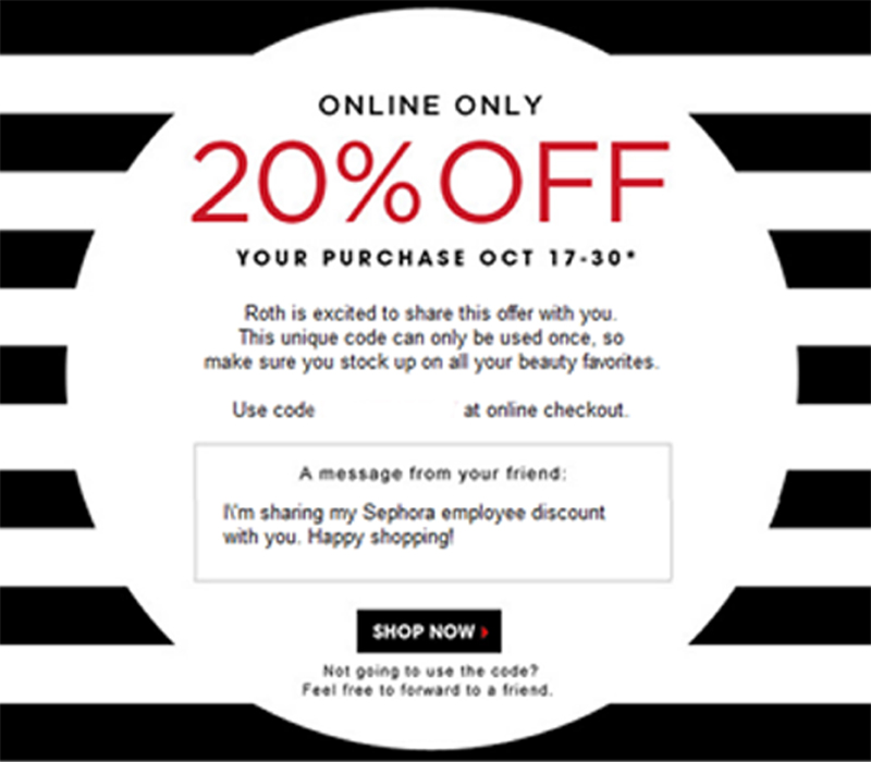 Sephora Friends and Family Sale 2013 Information Employee Invite