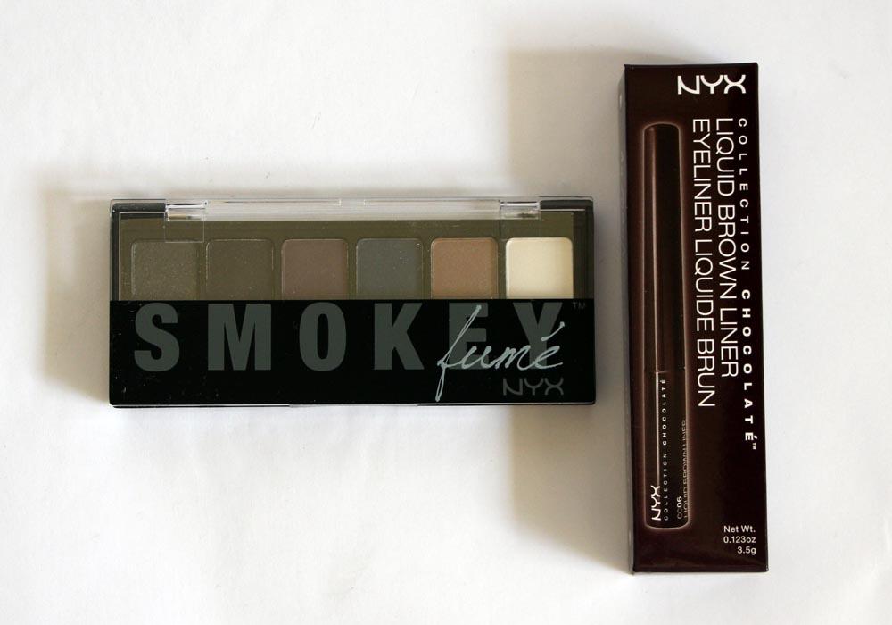 PopSugar Must Have Box October 2013 Review NYX Cosmetics Smokey Eyeshadow Palette Liquid Brown Liner
