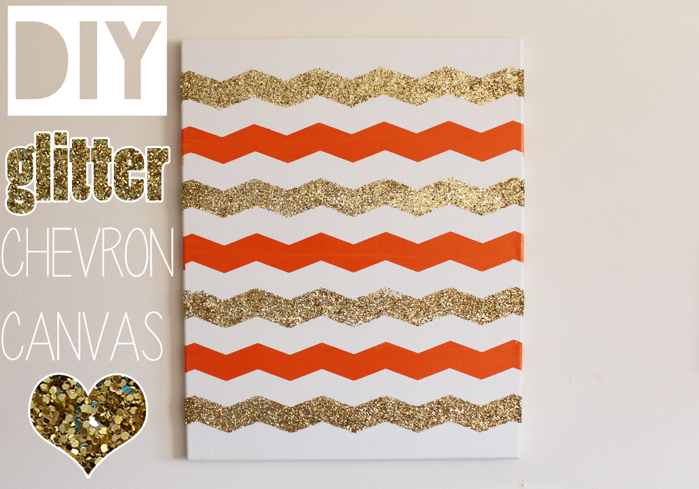 Do It Yourself Home Decorating Ideas: DIY Glitter Chevron Canvas (Home Decor) Tutorial