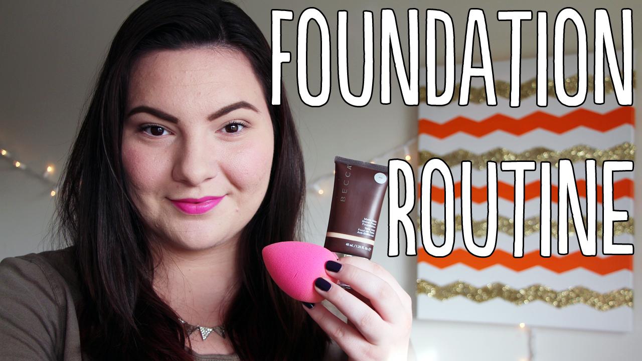 My Foundation Routine Feat Becca Jouer Nars Mufe Video