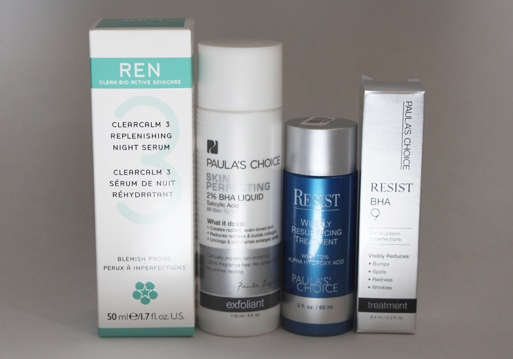 Dermstore Haul REN Clearcalm Serum Paula's Choice RESIST 10 AHA Resurfacing Treatment BHA 9 Skin Perfecting 2 Liquid Exfoliant