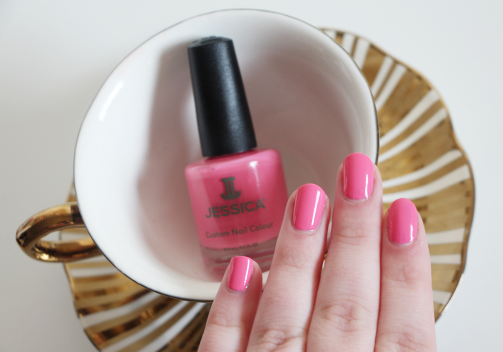 Jessica Cosmetics Coral Symphony Spring 2014 Nail Polish Collection  Conch Shell Swatch Review