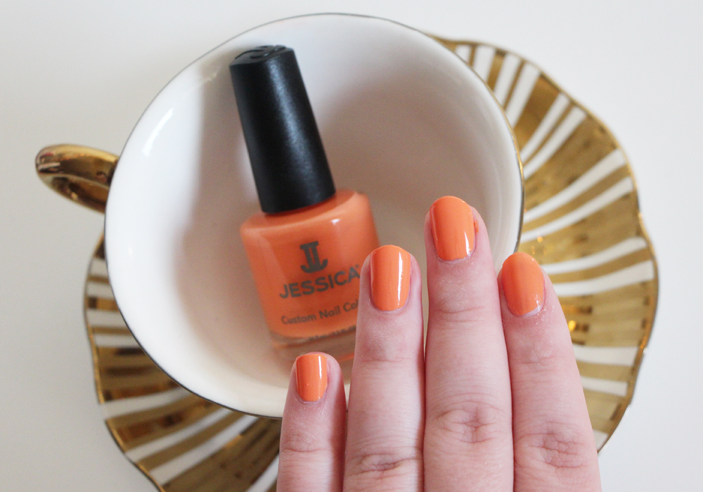 Jessica Cosmetics Coral Symphony Spring 2014 Nail Polish Collection Monsoon Melon Swatch Review