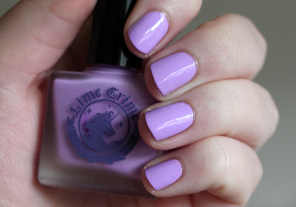 Lime Crime Lavendairy Swatch