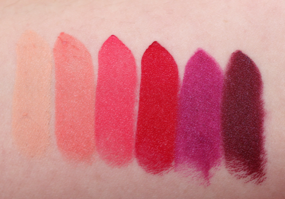 NYX Matte Lipstick Review & Swatches (Shy, Temptress ...