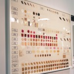 Swatch Board- Kevyn Aucoin Gallery @ The Makeup Show LA