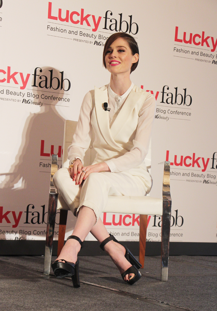 Luckyfabb Lucky Magazine Fashion Beauty Blogger Conference A Style Conversation With Coco Rocha