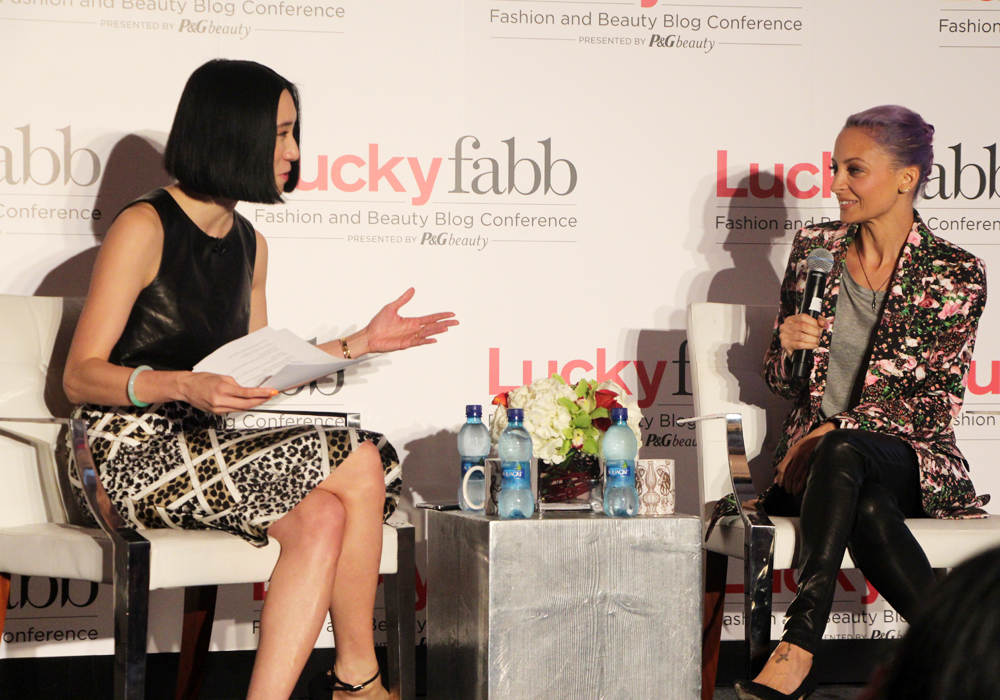 LuckyFABB Lucky Magazine Fashion Beauty Blogger Conference A Style Conversation with Nicole Richie House of Harlow 1960 Eva Chen