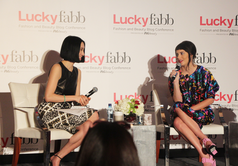 LuckyFABB Lucky Magazine Fashion Beauty Blogger Conference A Style Conversation with Sophia Amoruso Nasty Gal Eva Chen