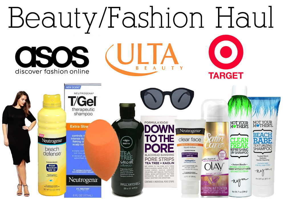 Beauty & Fashion Haul ULTA Target ASOS Neutrogena Real Techniques Paul Mitchell Not Your Mother's Olay