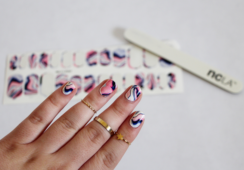 NCLA Dunes Nail Wraps Review Swatch