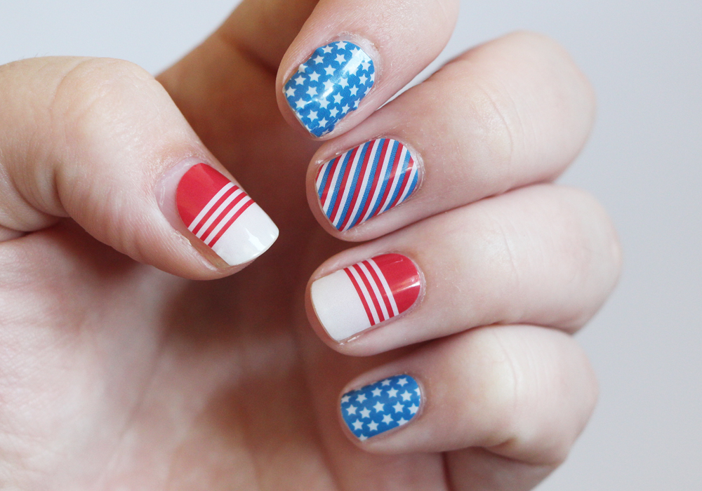 4th Of July Nails Jamberry Patriot Nail Wraps Review