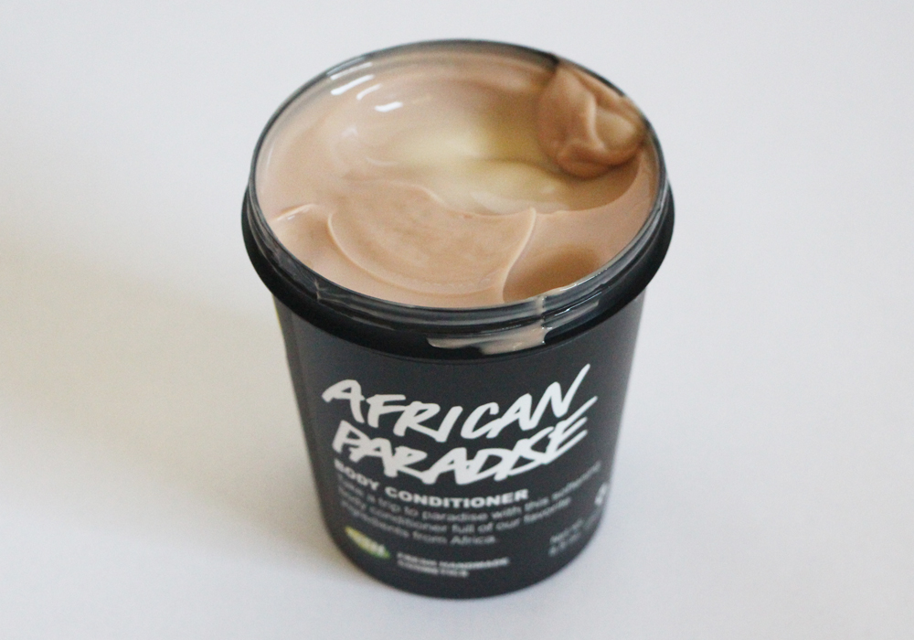 LUSH Cosmetics African Paradise Body Conditioner Review
