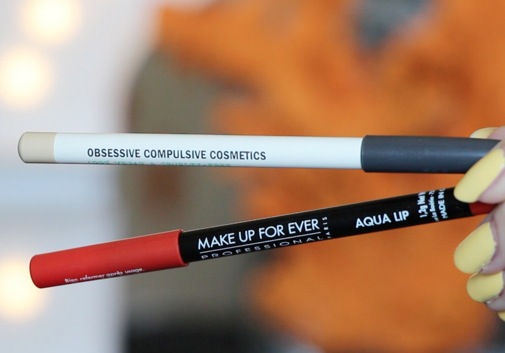 Best Lip Liner Obsessive Compulsive Cosmetics Clear Make Up For Ever Aqua Lip 17C Swatch Review