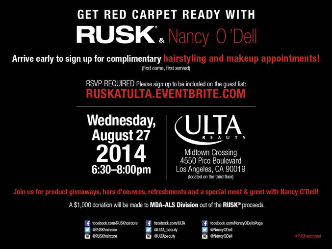 RUSK Nancy O Dell ULTA Event LA August 27 2014 RSVP ALS