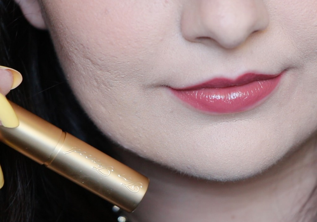 Too Faced La Creme Color Drenched Lipstick in Cinnamon Kiss Swatch Review