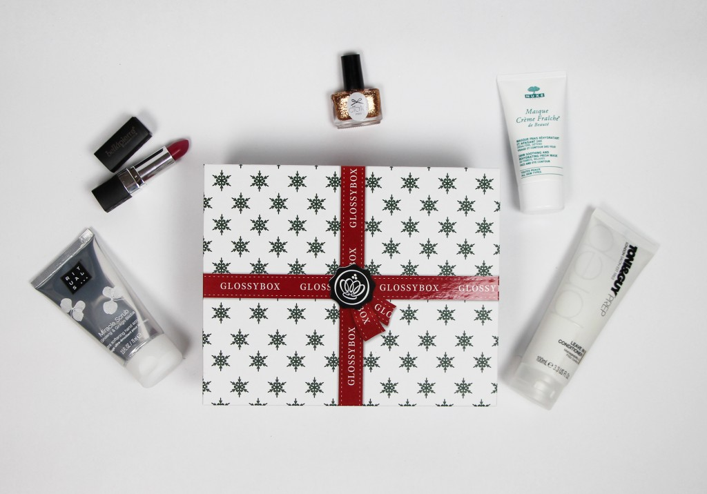 December 2014 GlossyBox Review Unboxing NUXE Rituals Ciate Toni & Guy Bellapierre Cosmetics