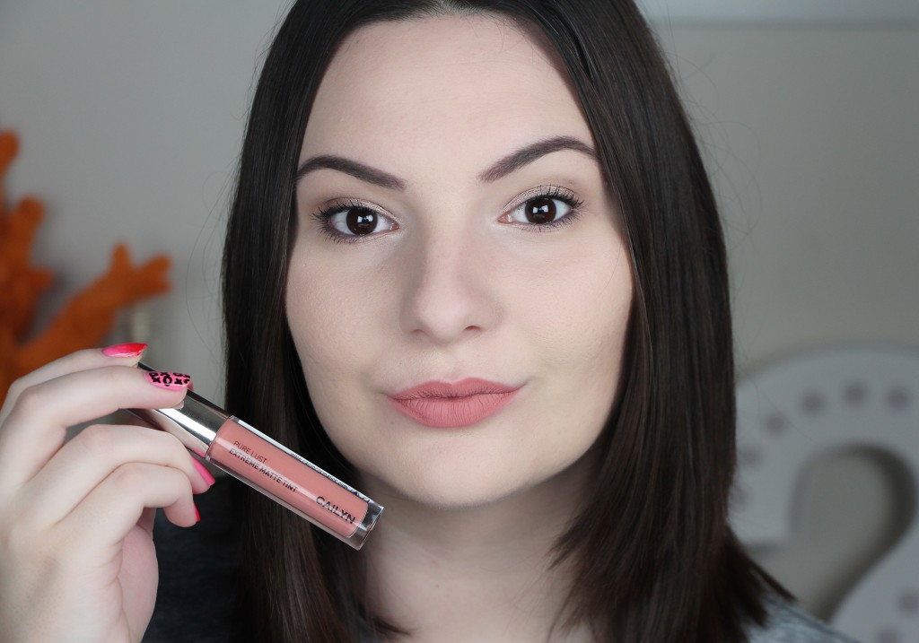 Cailyn Cosmetics Pure Lust Extreme Matte Tint Liquid Lipstick Exhibitionist Review Swatch 3
