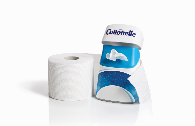 Cottonelle Fresh Care Flushable Cleansing Cloths and Clean Ripple Texture Toilet Paper