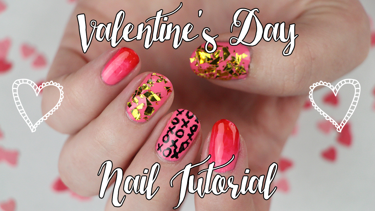 Easy Valentine\'s Day Nail Art: Ombré, Glitter, XO Designs | Video