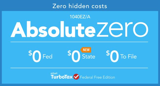 TurboTax Absolute Zero